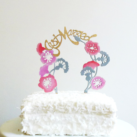fun wedding cake topper01 Whimsical Wedding Decor From The Shoppe By Madeline Trait