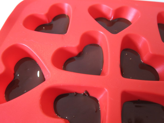 heart shaped chocolates Striped Valentines Day Chocolates Tutorial