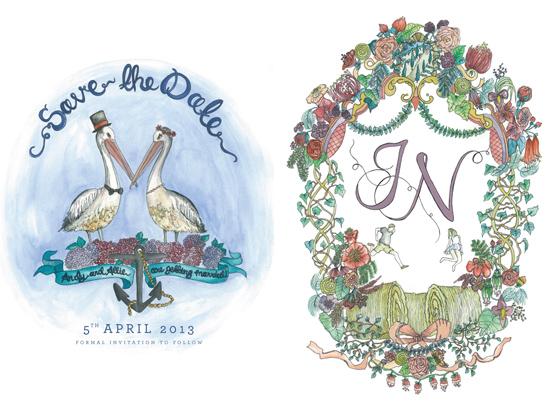 illustrated wedding invitations06