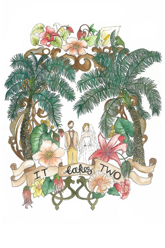 illustrated wedding invitations07 Kathryn Green Illustrated Wedding Invitations