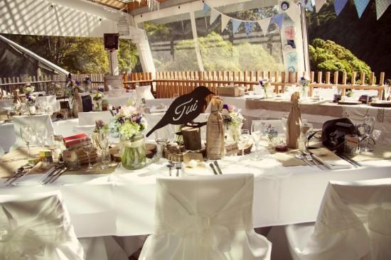 image3 550x366 Rustic 1940s Polka Dot Wellington Wedding