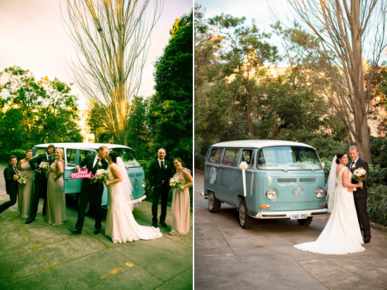 kombi wedding cars Lisa & Macca's Vintage Inspired Convent Wedding