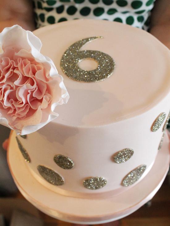 polka dot brithday cake