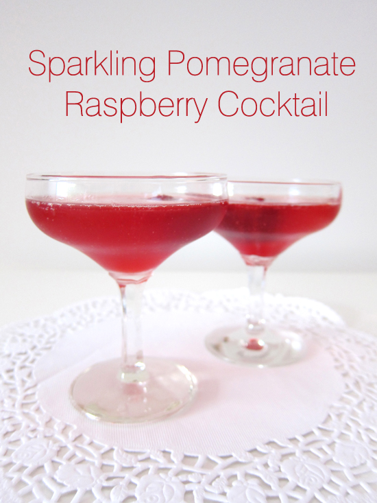 sparkling pomegranate cocktail Cocktail Friday   Sparkling Pomegranate Raspberry Cocktail