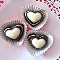 striped heart chocolates