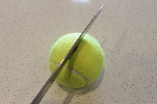 tennis ball placecard holders 4 DIY Tennis Ball Placecard Holders Tutorial