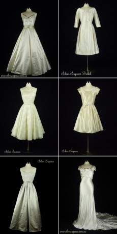 vintage inspired wedding gowns