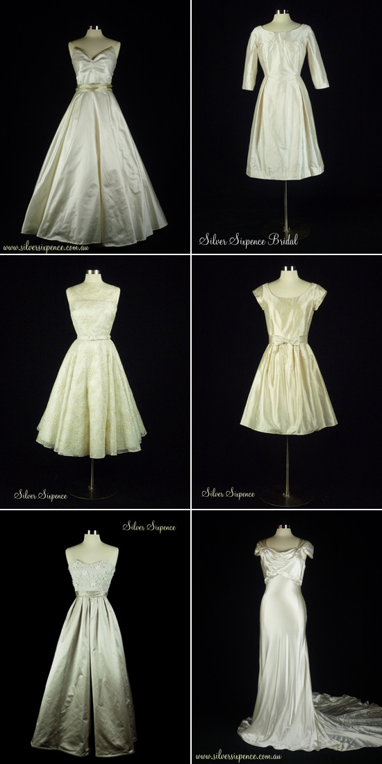 vintage inspired wedding gowns Vendor of the Week Silver Sixpence