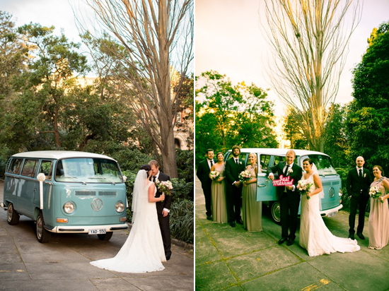 vintage wedding cars Lisa & Macca's Vintage Inspired Convent Wedding