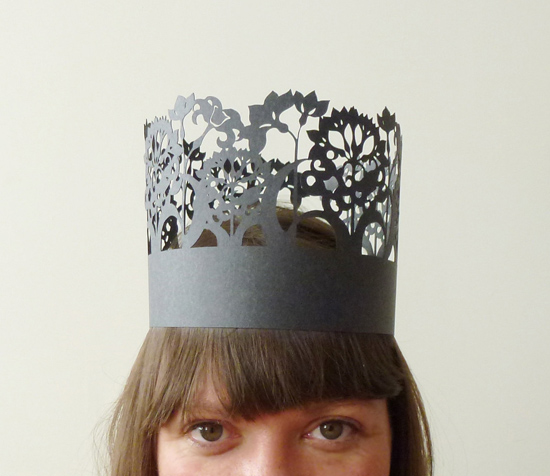 wedding paper crown