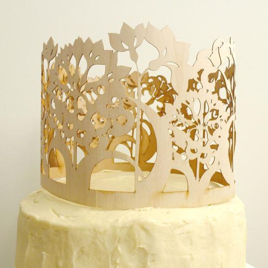 whimsical carved wood cake topper02