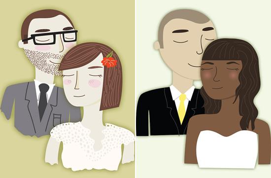 Custom Illustration of Bride and Groom