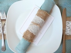 DIY Lace Napkin Rings