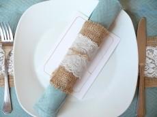 DIY Lace Napkin Rings