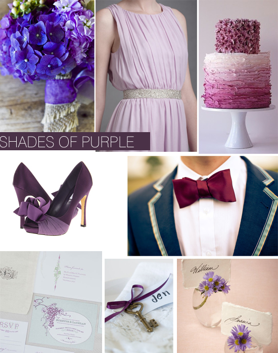 Purple Wedding Inspiration Shoe Crush Sunday ~ Shades Of Purple