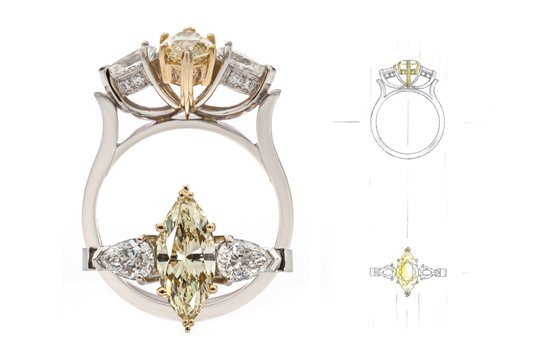 Yellow Marquise ringRS What Would They Know? Rohan Milne from Rohan Jewellery