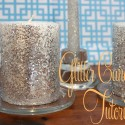 Glitter candle wedding