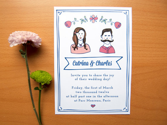 custom wedding illustration Draw Me In Ink Custom Drawn Wedding Portraits