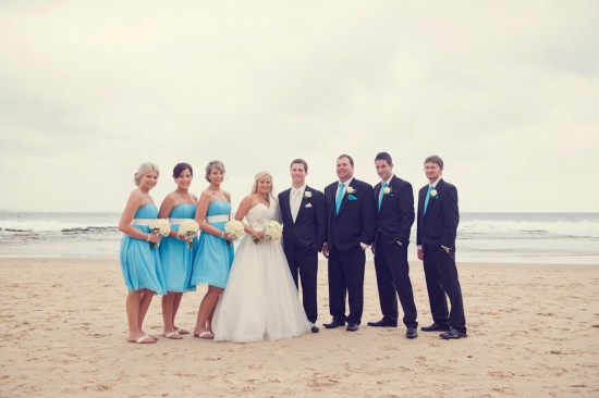 jessbrad271 550x366 Brad & Jesss Aqua And White Sunshine Coast Wedding
