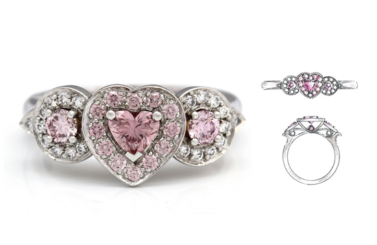 pink diamond ring with sketchRS What Would They Know? Rohan Milne from Rohan Jewellery