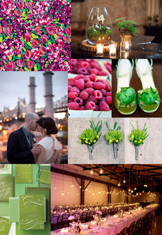raspberry and lime wedding
