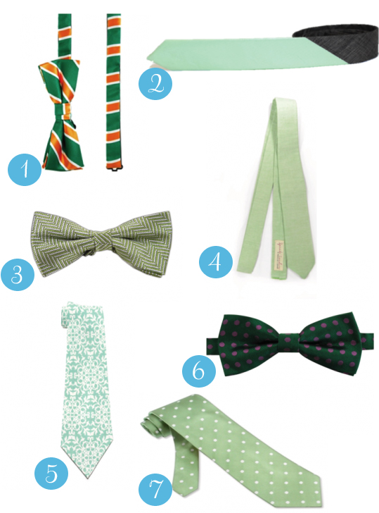 Greenties 550x829 Its Easy Being Green St Patricks Day Tie Inspiration