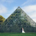 glass pyramid wedding