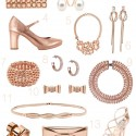 rose gold wedding accesories