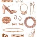 rose gold wedding accesories