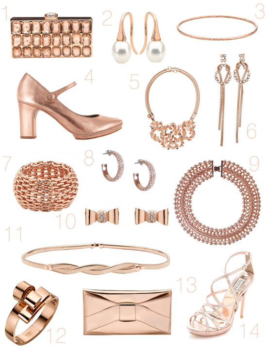 rose gold wedding accesories1 Rose Gold Wedding Accessories