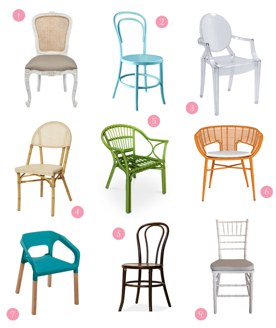 unique chairs for wedding receptions