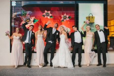 Bridal-Party-Outside-Louis-Vuitton-Brisbane