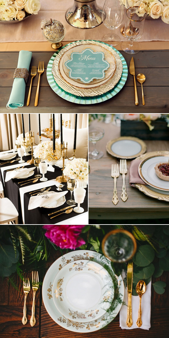 gold cutlery for weddings