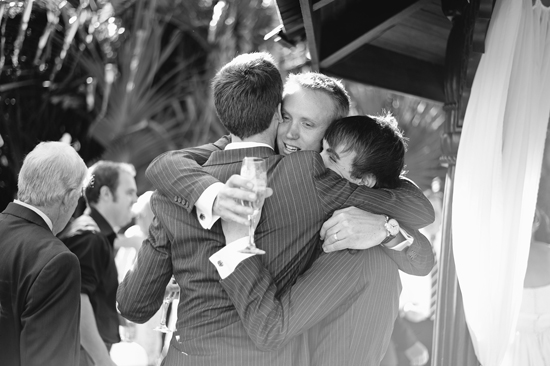 groomsmen hugging groom Snapshot Sunday Brothers In Arms