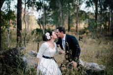 relaxed vintage hall wedding26