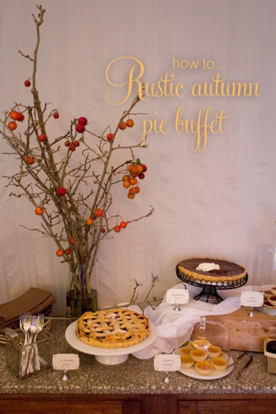 Pie buffet title