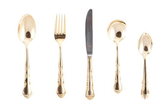 gold cutlery hire in australia