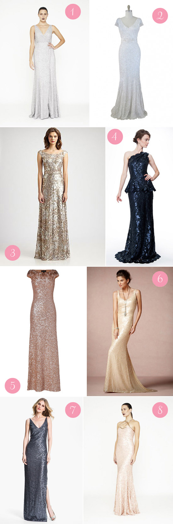 sequin wedding gowns