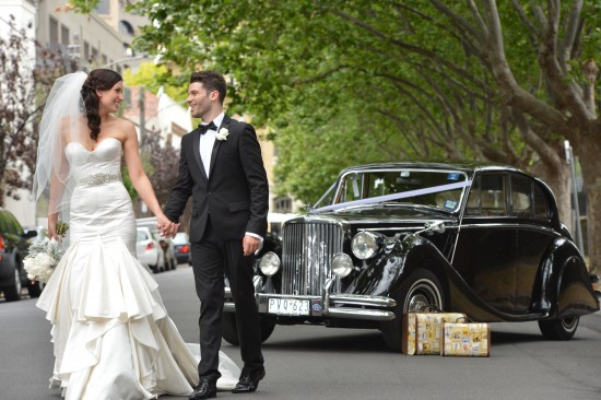 0647 TJ 550x366 Jasmin & Terrys Vintage Glamour and Travel Themed Melbourne Wedding