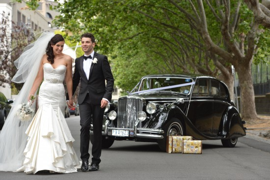 0651 TJ 550x366 Jasmin & Terrys Vintage Glamour and Travel Themed Melbourne Wedding