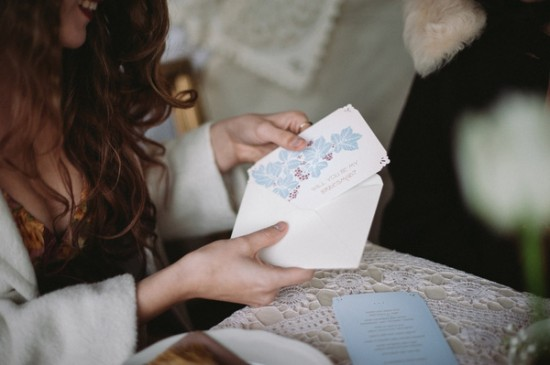 Art nouveau bridesmaid card