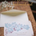 Art nouveau bridesmaid card