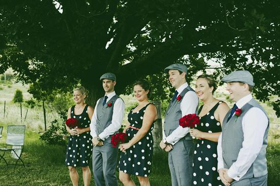 Blue and Red Polka Dot Wedding1393 Jolly & Scotts Polka Dot Lake George Winery Wedding