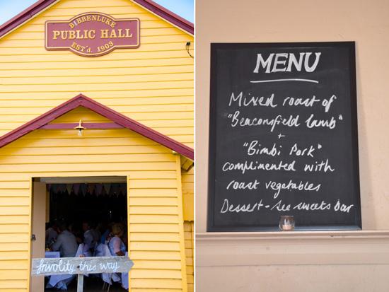 Chalkboard Wedding Menu Tim & Rosies Country Charm Wedding