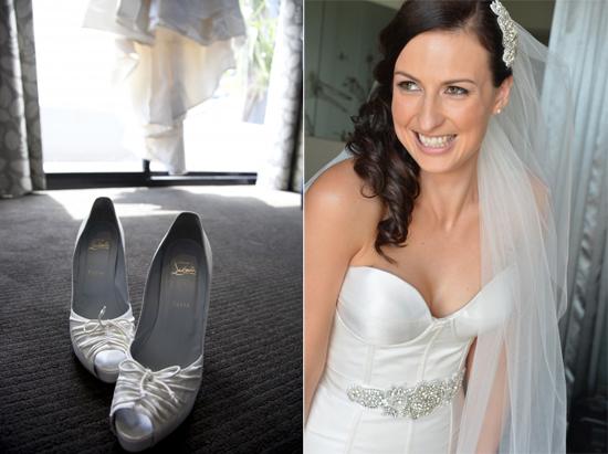 White Christian Louboutin Wedding Shoes Jasmin & Terrys Vintage Glamour and Travel Themed Melbourne Wedding