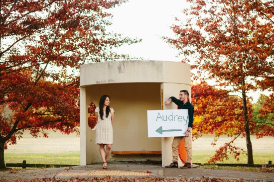 pic34busstoppicagain 550x366 Chris and Audreys Autumn Love Story Shoot