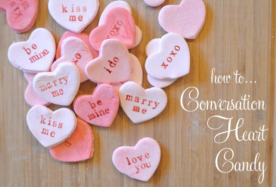DIY Conversation Candy Heart Tutorial - Polka Dot Bride