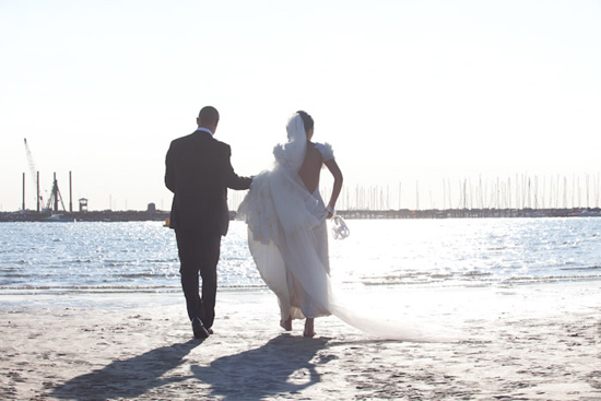 st kilda beach wedding