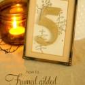Gilded Leaf DIY Wedding Place Cards