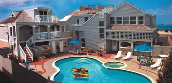 Sand Castle front 550x268 Luxury Honeymoons The Sand Castle Bed and Breakfast, Long Beach Island